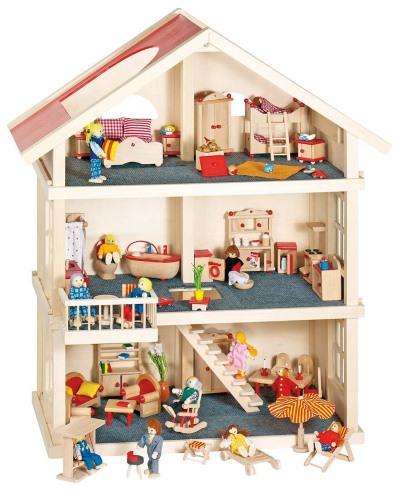 Goki Puppenhaus drei Etagen